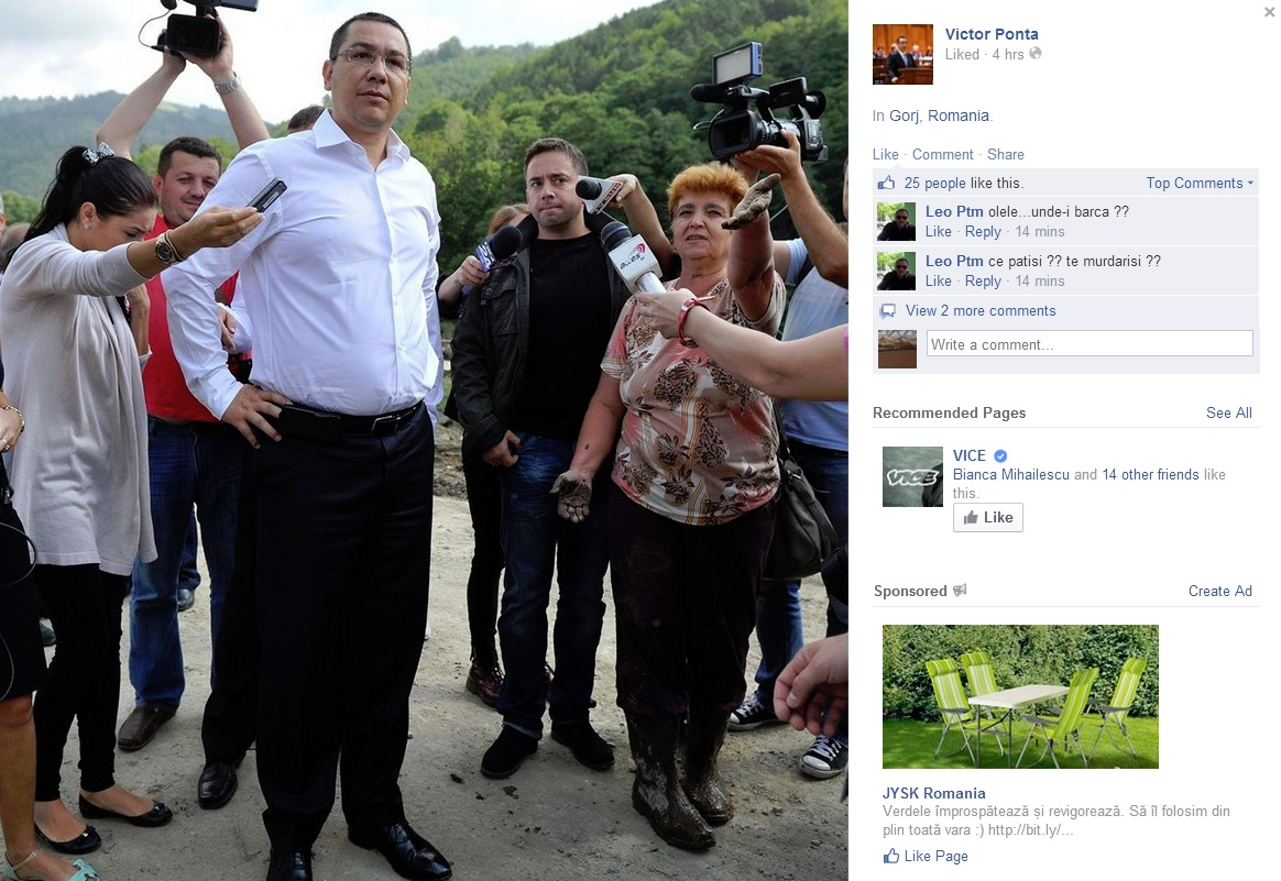 Mihnea Costoiu zice că apa îi aduce noroc la Prezidenţiale lui VictorPonta